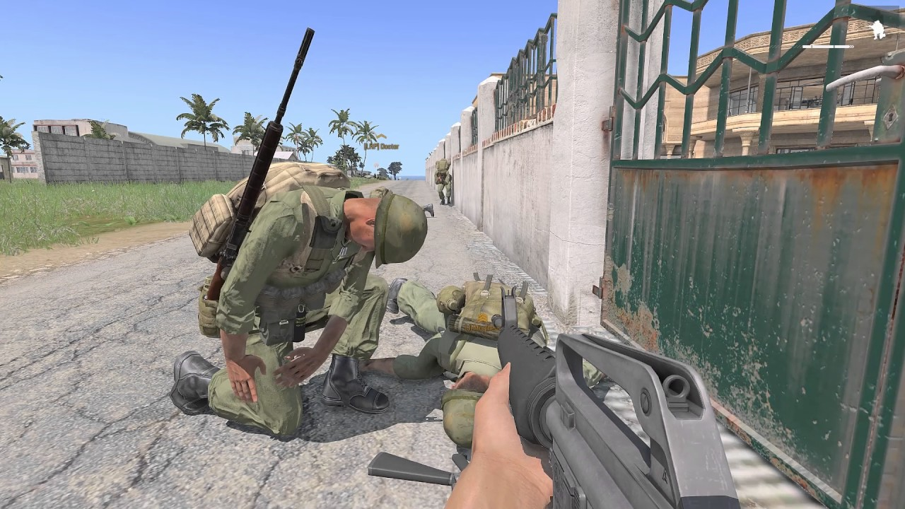 Arma 3 Hard Mode Game Vietnam War Map Lingor 30 october 2016