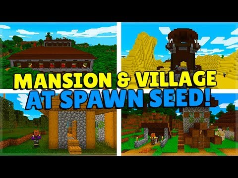 THE PERFECT STARTER SEED IN MINECRAFT! Mansion, Swamp Village & MORE! (MCPE, Xbox, Switch, PC)
