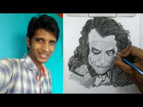 Vilas Nayak Paints Giant Joker Portrait In 2.5 Minutes | Asia's Got Talent Episode 5 | step by step