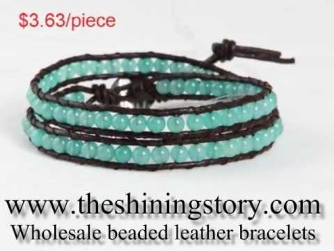 Whole Chan Luu Style Beaded Leather Wrap Bracelets Diy How To Online