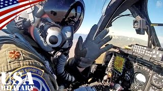 A-10サンダーボルトII 近接航空支援攻撃機・コックピット映像 - A-10 Thunderbolt II Ground-attack Aircraft Cockpit View