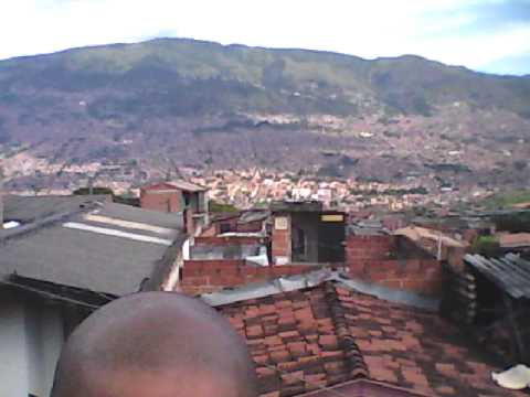 A view of Medellin Colombia on Christmas Eve
