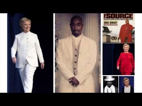 Hillary Clinton ups her pantsuit game