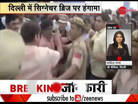 Manoj Tiwari, AAP members clash at inauguration of Delhi's Signature Bridge