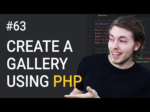 63: How to Create a PHP Gallery Part 1 | HTML Markup Setup |