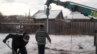 Монтаж винтовых свай Мегалит - фундамент(, 2014-03-19T03:57:44.000Z)