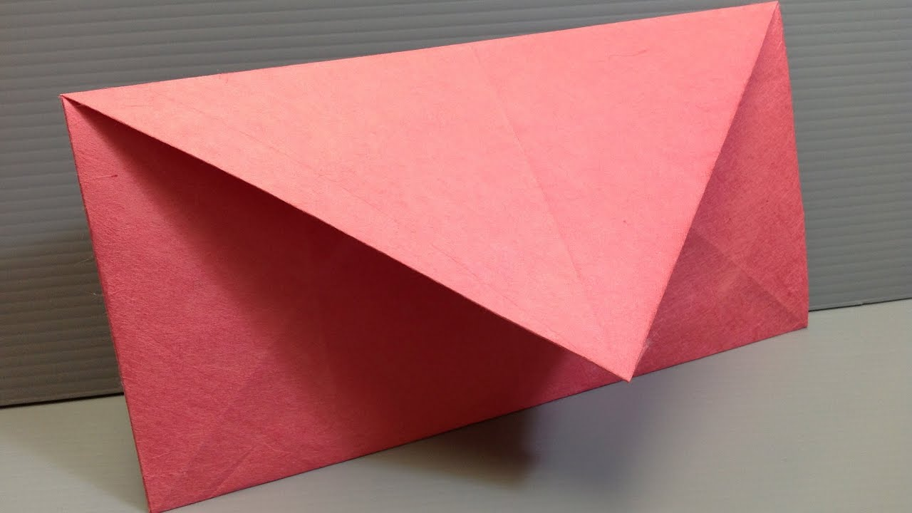 Make your own origami envelopes any size funnycattv for Us letter envelope size