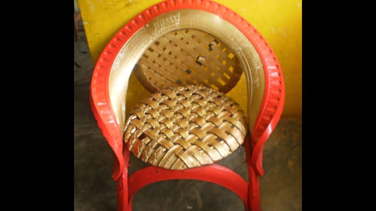 como reciclar llantas usadas (sillas) - YouTube