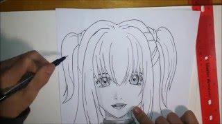 How to Draw Misa Amane | Como dibujar a Misa Amane - 弥 海砂