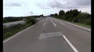 "StreetView Drivelapse: German ""Autobahn"" to Mannheim [HD]"