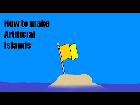 how to make artificial islands at the beach