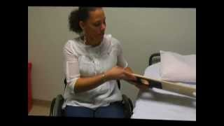 How To Transfer From A Wheelchair To Hospital Bed (stretcher) With A Sliding Board