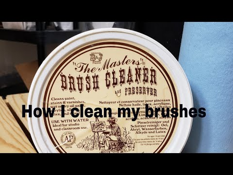 How to do an oil painting. Cleaning brushes