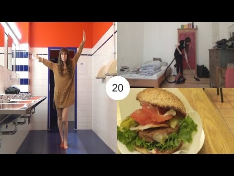 Moving to a hostel, Vegan burgers and big cleaning | Berlin vlog 20 | HiLesley-Ann