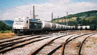 Bombardier TRAXX Locomotora 253 Renfe con tren de 621 metros en el puerto Pajares/ Pajares pass