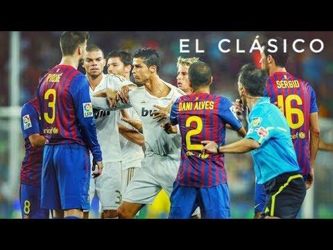 El Clasico ● Best Fights, Fouls U0026 Red Cards ● Real Madrid Vs Barcelona