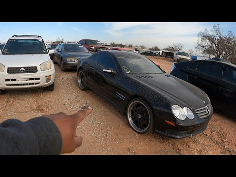 Copart Walk Around + Carnage Salvage Cars And Found Mercedes SL500