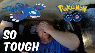 Pokemon GO | Weather Boosted Kyogre Raid | Toughest Legendary Boss To Catch So Far?