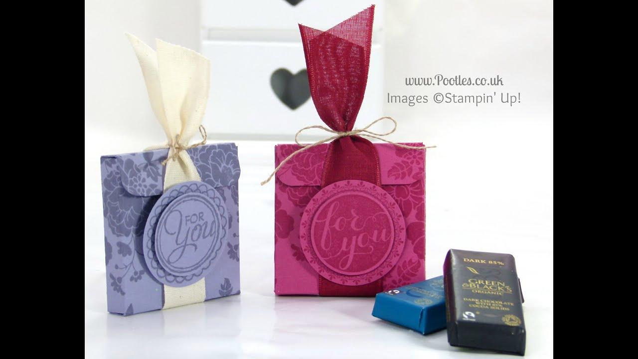 Stampin\' Up! UK Chocolate Treat Box Tutorial - YouTube
