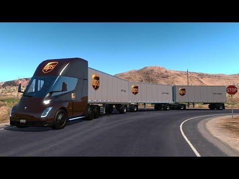 TESLA SEMI TRUCK UPS | Triple Remolque | Ruta en Nevada | De Carson City a Tonopah