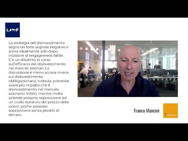 Efficacia e impatto del disinvestimento - Franco Mancini (Tabula)