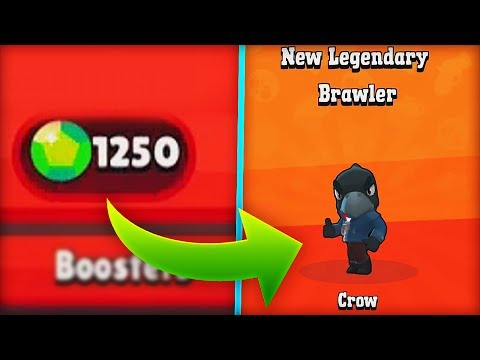 $100 BRAWL BOX GEMMING! (UNLOCKING CROW)   Brawl Stars