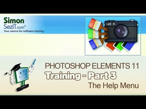 Learn How To Use Photoshop Elements 11 - Part 3 - The Help Menu
