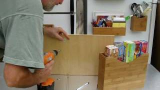 How To Stick A Magnetic File Box To A Wooden Surface.