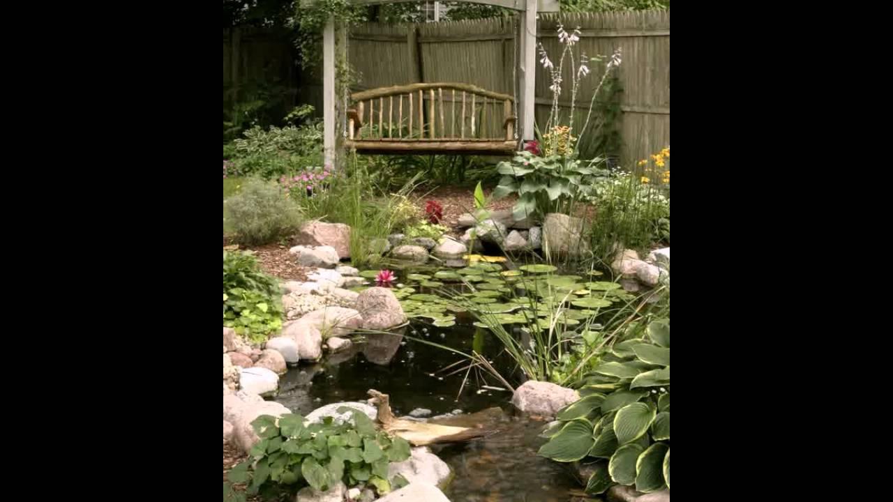 Vintage Hinterhof Teich Garten Ideen Youtube