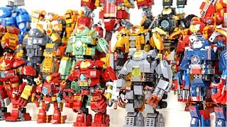 Amazing Lego Iron Man 2019 Hall of Armor Mechanical Suit Collection Official & Unofficial Sets