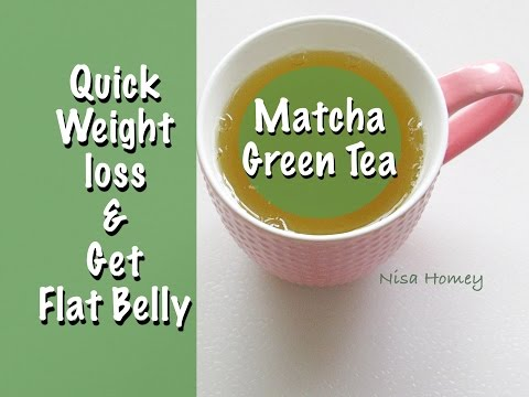 quick-weight-loss-with-matcha-green-tea---how-to-get-flat-belly---flat-stomach-&-youthful-skin