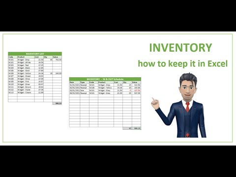 How to keep Inventory using an Excel Spreadsheet - [create your own Template]