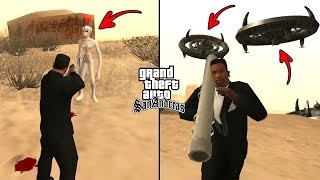 Secret UFO and Aliens Location in GTA San Andreas! (Myths Secrets and Facts)