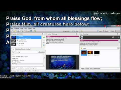 Global Setting Lyrics and Scripture in EasyWorship