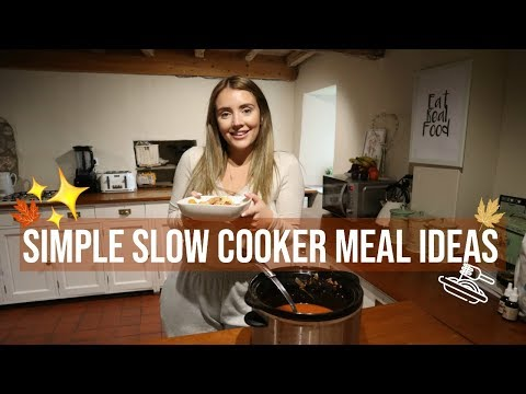 EASY & SIMPLE SLOW COOKER MEALS | FAMILY MEAL IDEAS | WINTER MEAL IDEAS