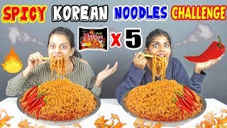 WORLD'S SPICIEST NOODLES EATING CHALLENGE | SPICY KOREAN NOODLES EATING COMPETITION (Ep-164)