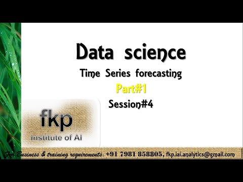 Time Series Forecasting – Part I – Session 4 (fkp – Institute of Artificial Intelligence)