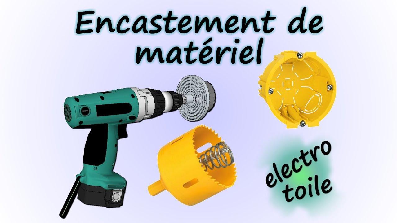 Diametre Scie Cloche Prise De Courant implantation de matériel encastré mesure, scie cloche, pose