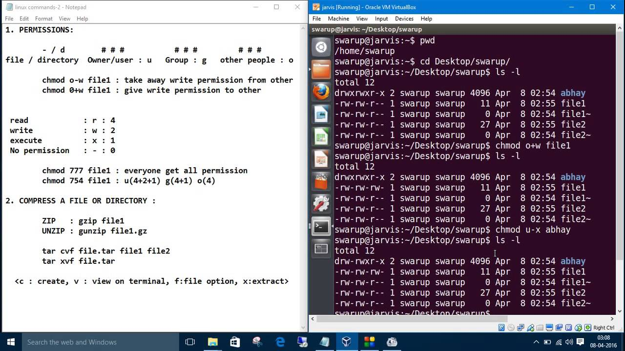 how to give file permission in linux