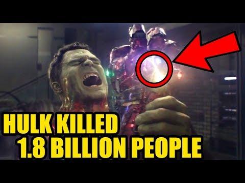 How Hulk Snap Brought Back 3.5 Billion People And Killed 1.8 Billion Of Them Avengers Endgame