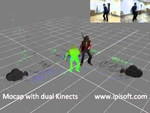 iPi Desktop Motion Capture with 2 Kinect - demo 1