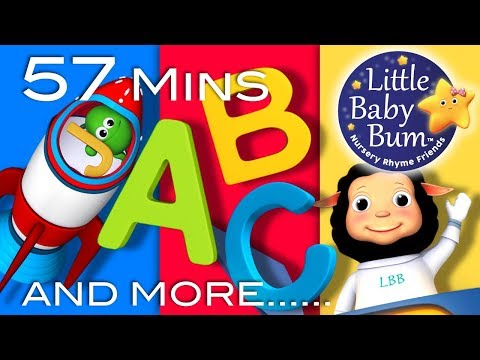 Thumbnail: ABC Song In Outer Space | Plus Lots More Nursery Rhymes | 57 Minutes Compilation from LittleBabyBum!