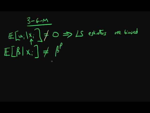 Zero conditional mean of errors - Gauss-Markov assumption