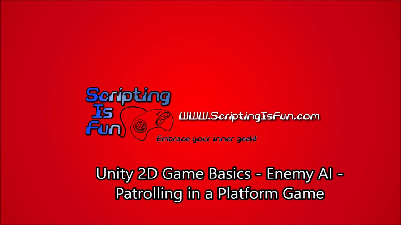 Unity 2D Game Basics - AI - Patrolling in a Platform Game
