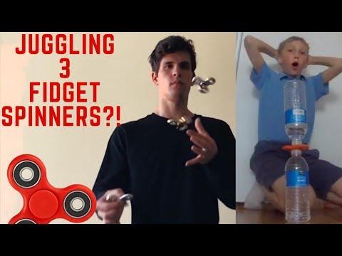 INSANE Fidget Spinner Tricks, Juggling, and Trick Shots!