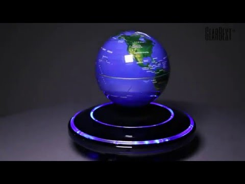 Magnetic levitation floating globe world map gearbest youtube gumiabroncs