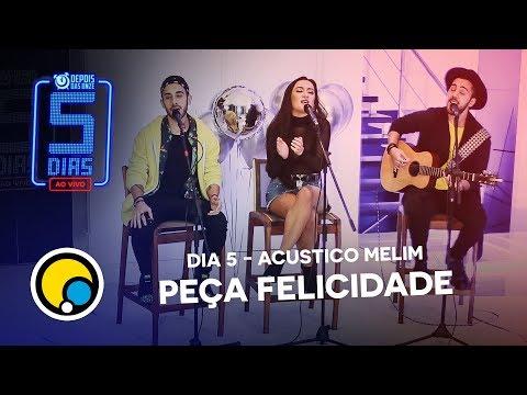 """Melim canta """"Peça Felicidade"""" no #5DiasAoVivo - Depois das Onze"""