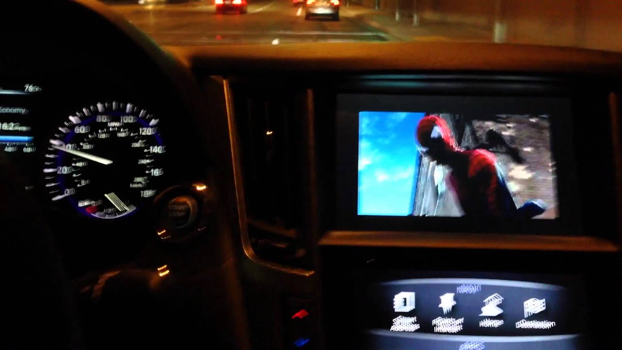 Q50 Navigation Unlocked Watching Movie While Car Is In Motion