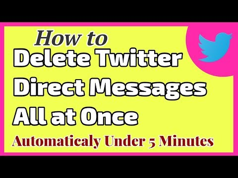 How to Delete DM (Direct Messages) on Twitter all at Once