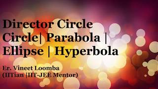 Director Circle for JEE Main and Advanced | CIrcle | Parabola | Ellipse | Hyperbola